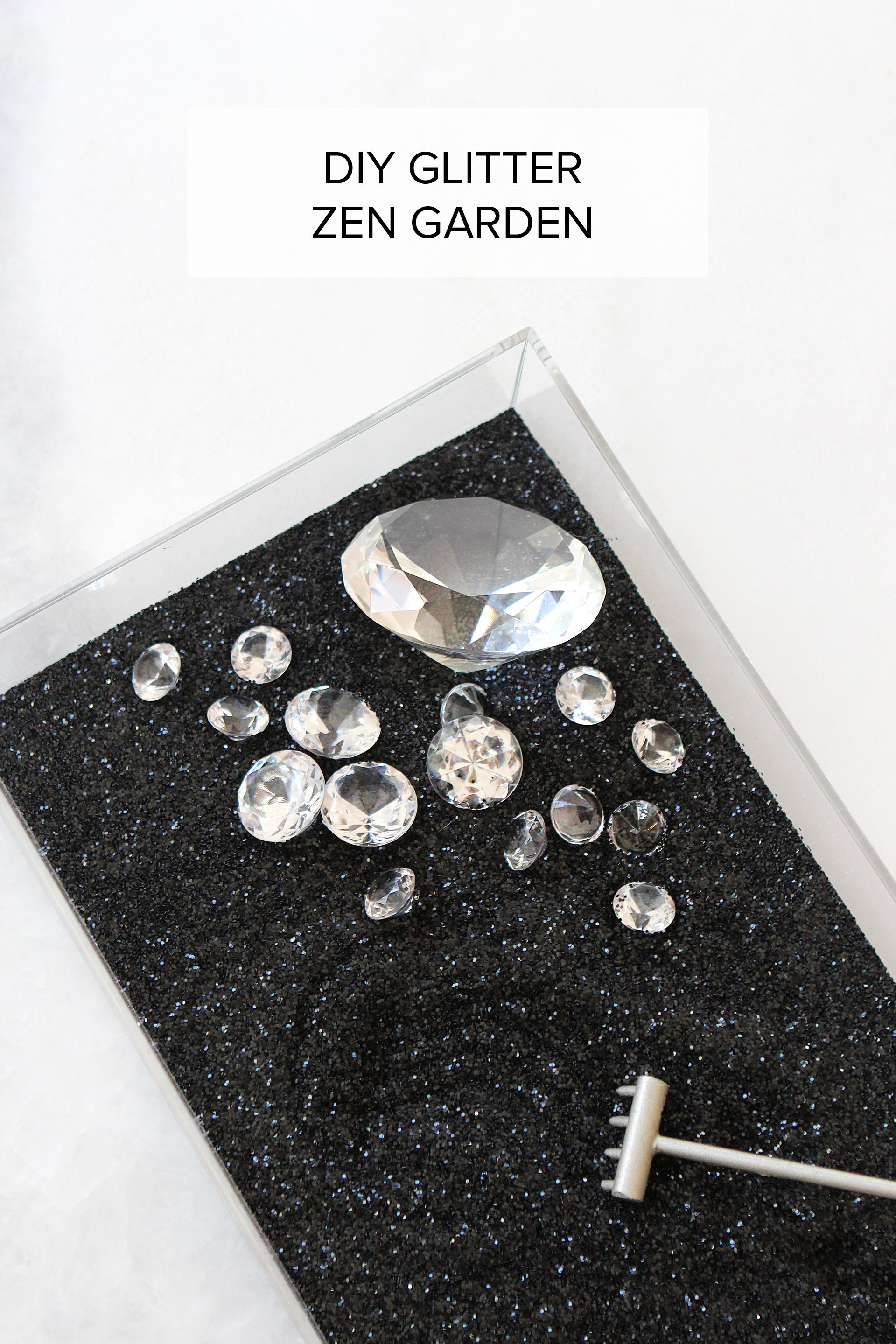Diy glitter zen garden alexandra adams this diy is more of a put it together yourself than a do it yourself but i think it still qualifies solutioingenieria Gallery