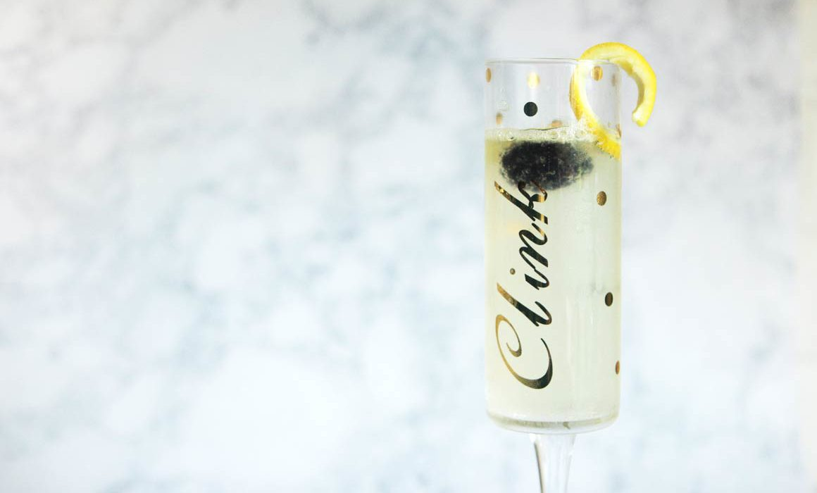 French 75 Champagne Cocktail | Alexandra Adams